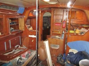 Nostalgi bild, över organiserat kaos när restaureringen inleddes 2012
